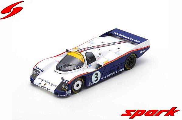 Spark 1/43 Porsche 962 C No.3 24H Le Mans 1985 A. Holbert - V. Schuppan - J. Watson