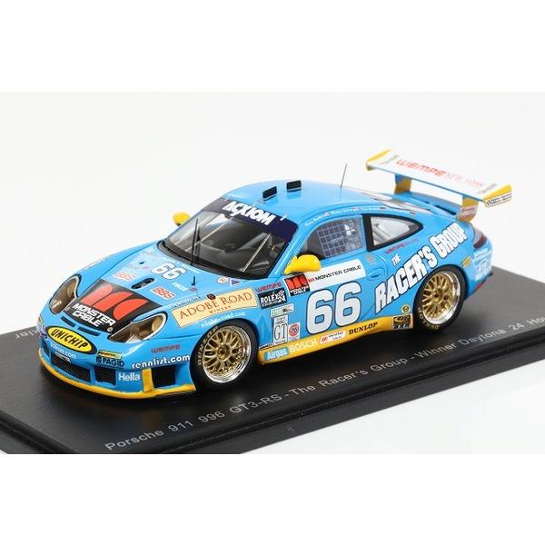 【スパーク】 1/43 Porsche 911 GT3 RS No.66 Winner 24h of Daytona 2003 J. Bergmeister - T. Bernhard - M. Schrom - K. Buckler