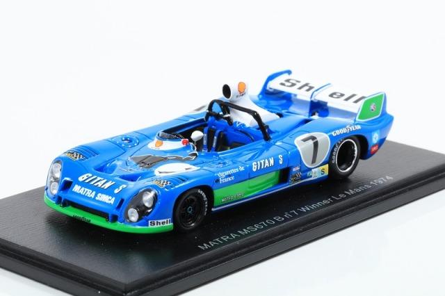 Spark 1/43 Matra Simca MS 670 B No.7 Winner 24H Le Mans 1974
