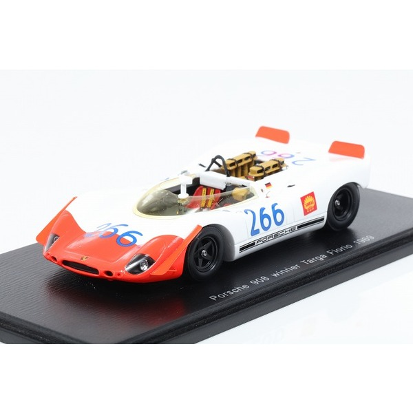 【スパーク】 1/43 Porsche 908/02 Spyder No.266 Winner Targa Florio 1969 G. Mitter - U. Schutz