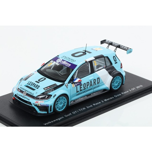 【Spark】 1/43 VW Golf GTI TCR No.2 2nd Race 2 Macau Guia Race 2016