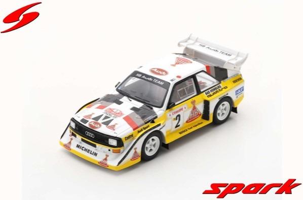 Spark 1/43 Audi Sport quattro S1 E2 No.2 4th Rally Monte Carlo 1986 W. Rohrl - C. Geistdorfer