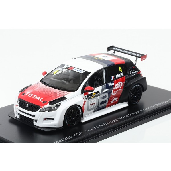 【Spark】 1/43 Peugeot 308 TCR No.4 1st TCR Europe Race 2 Spa- Francorchamps 2018 Julien Briche
