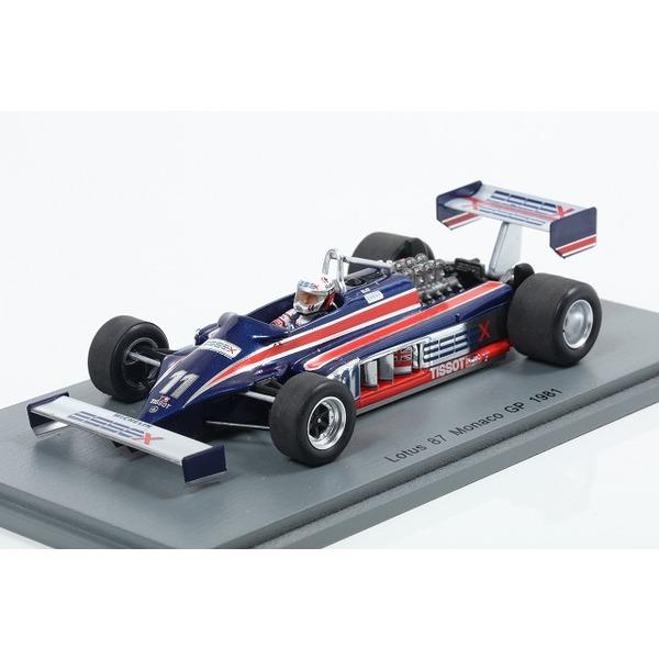 【スパーク】 1/43 Lotus 87 No.11 Monaco GP 1981 Elio de Angelis