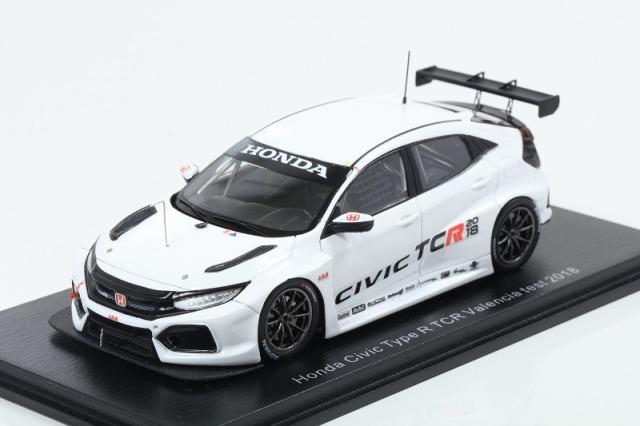 [Spark] 1/43 Honda Civic Type R TCR J.A.S. Motorsport Valencia Test 2018 Tiago Monteiro