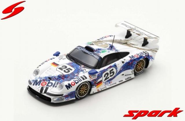 Spark 1/43 Porsche 911 GT1 No.25 Porsche AG 2nd 24H Le Mans 1996 H. Stuck - B. Wollek - T. Boutsen