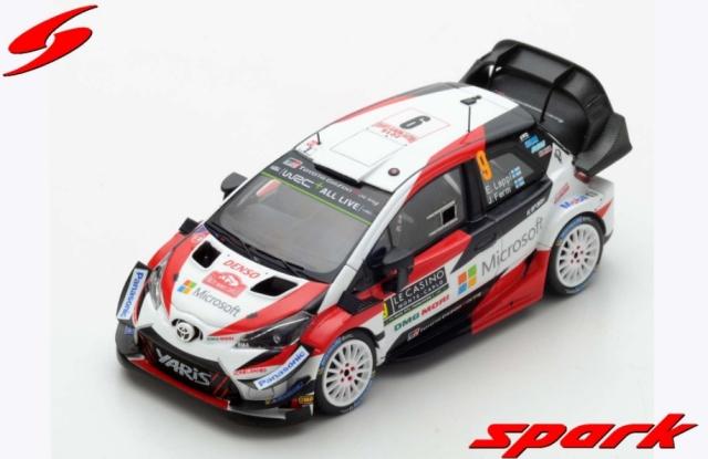 spark 1/43 TOYOTA YARIS WRC TOYOTA GAZOO RACING WRT NO.9 RALLY MONTE CARLO 2018 - E. LAPPI - J. FERM