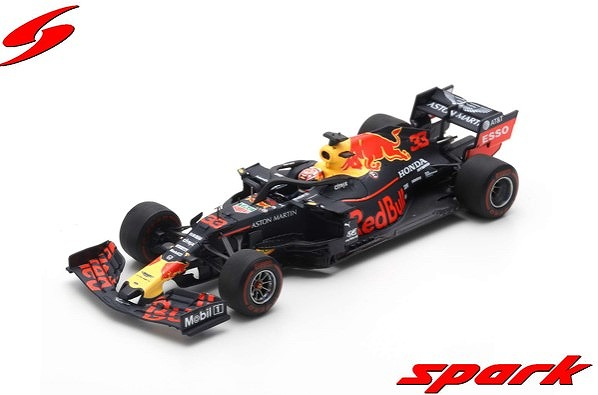 Spark 1/43 Aston Martin Red Bull Racing F1 Team No.33 Winner Brazilian GP 2019 RB15 Max Verstappen