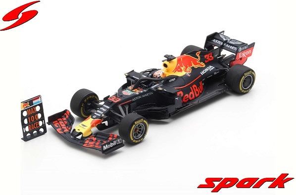 Spark 1/43 Aston Martin Red Bull Racing F1 No.33 3rd USA GP 2019 F1 100th GP  RB15 Max Verstappen