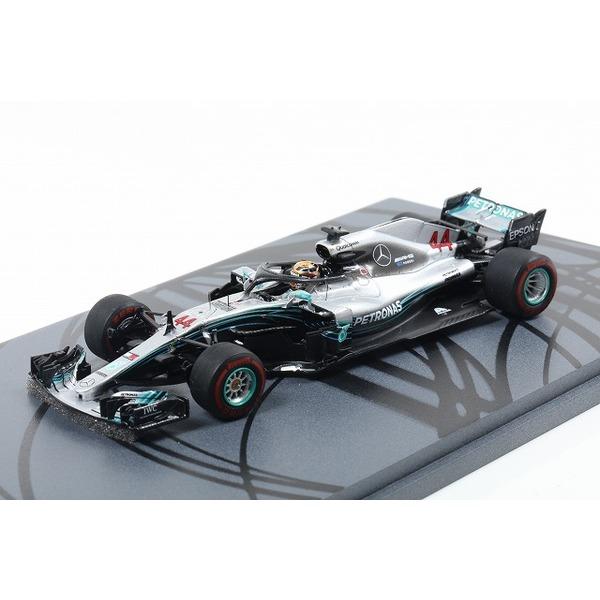 【Spark】 1/43 Mercedes-AMG Petronas Motorsports No.44 Winner Abu Dhabi GP 2018 Lewis Hamilton