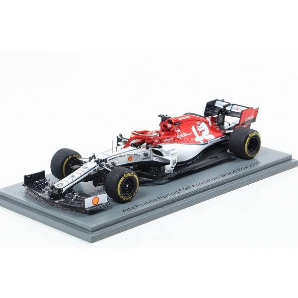 【Spark】 1/43 Alfa Romeo Racing Sauber F1 Team No.7 TBC 2019 Alfa Romeo Racing C38 Kimi Raikkonen