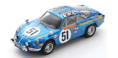 <予約 2021/5月発売予定> Spark 1/43 Alpine A110 No.51 24H Le Mans 1968 B. Collomb - F. Lacarreau