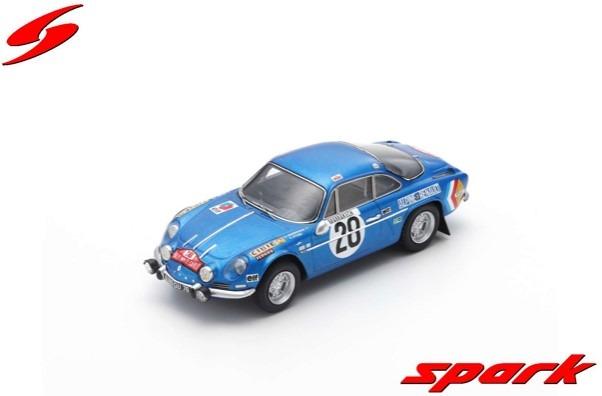 Spark 1/43 Alpine A110 No.28 Winner Monte Carlo Rally 1971 O. Andersson - D. Stone