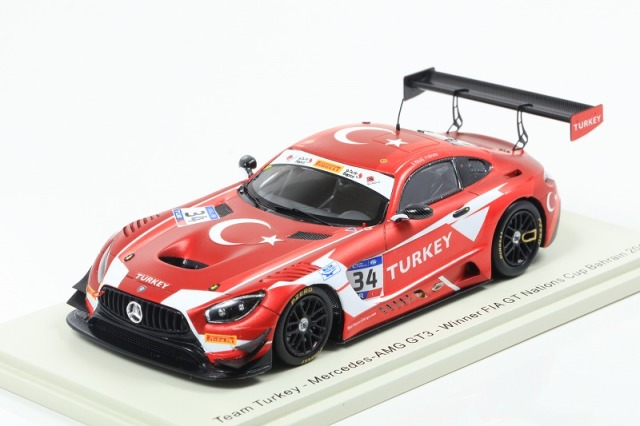 [Spark] 1/43 Mercedes-AMG GT3 No.34 RAM Racing - Winner FIA GT Nations Cup Bahrain 2018