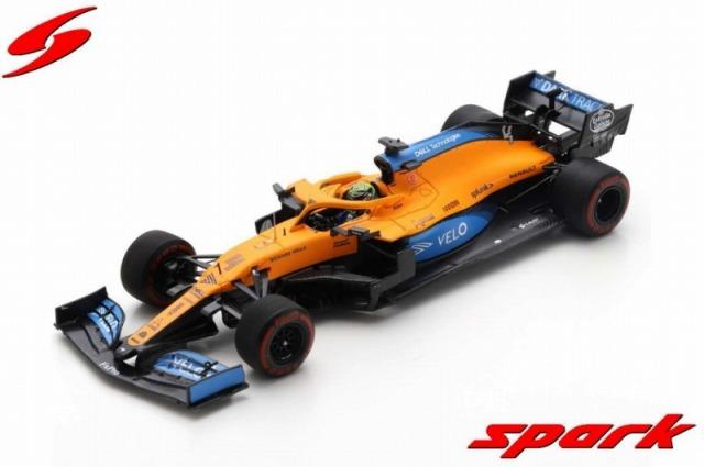Spark 1/43 McLaren MCL35 No.4 McLaren F1 Team Barcelona Test 2020   Lando Norris