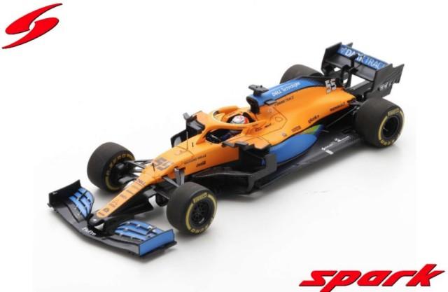 Spark 1/43 McLaren MCL35 No.55 McLaren F1 Team 5th Austrian GP 2020 Carlos Sainz Jr.