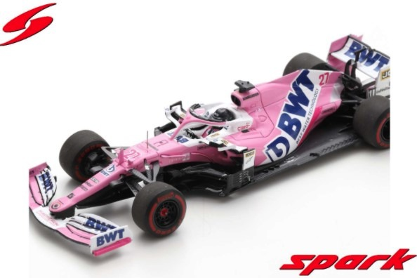 Spark 1/43 BWT Racing Point RP20 No.27 F1 70th Anniversary GP 2020 Nico Hulkenberg