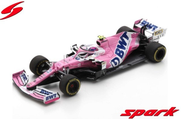 Spark 1/43 BWT Racing Point RP20 No.18 BWT Racing Point F1 Team 3rd Italian GP 2020 Lance Stroll
