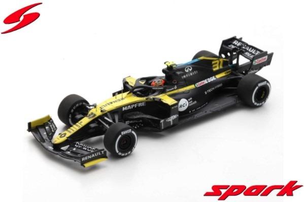 Spark 1/43 Renault R.S. 20 No.3 Renault DP World F1 Team 3rd Eifel GP 2020 Daniel Ricciardo