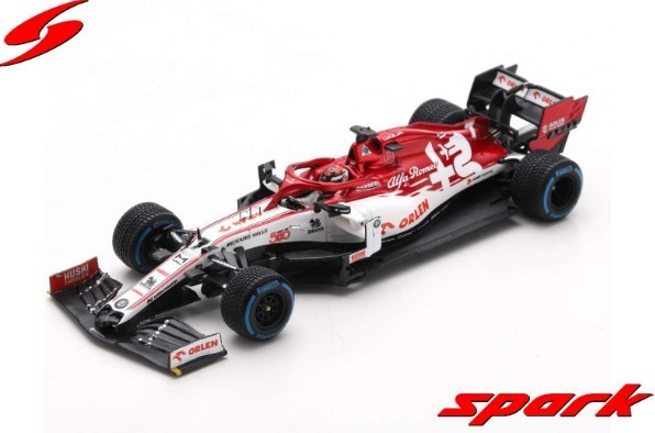 Spark 1/43 Alfa Romeo Racing ORLEN C39 No.7 Turkish GP 2020 Sauber 500th Race K.Raikkonen With Pit Board