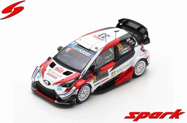Spark 1/43 TOYOTA Yaris WRC No.33 3rd Rally Monte Carlo 2020 E. Evans - S. Martin