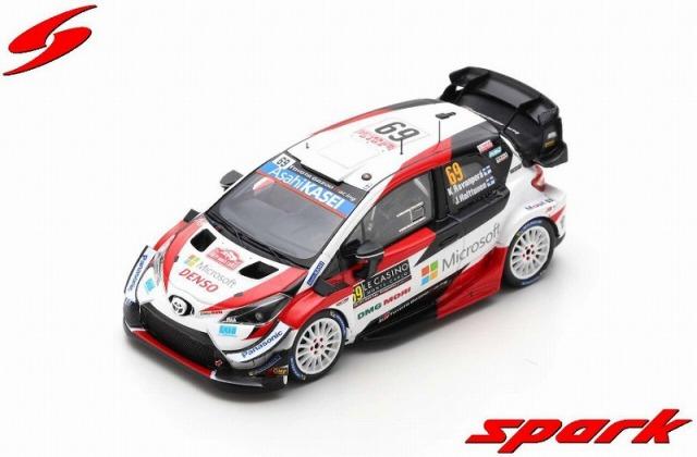 Spark 1/43 TOYOTA Yaris WRC No.69 Rally Monte Carlo 2020 K. Rovanpera - J. Halttunen