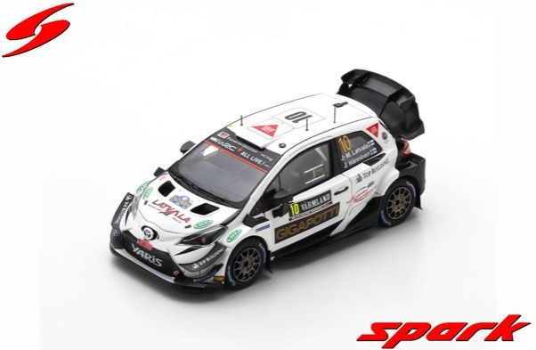 Spark 1/43 TOYOTA Yaris WRC No.10 Rally Sweden 2020 J-M. Latvala - J. Hanninen