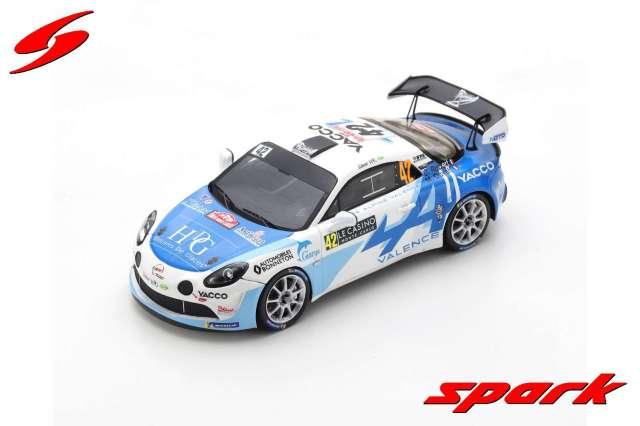 spark 1/43 Alpine A110 Rally Team Bonneton No.42 Rally Monte Carlo 2021 3rd R-GT Cedric Robert - Matthieu Duval