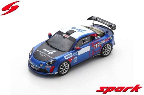 Spark 1/43 Alpine A110 Rally No.43 Rally Monte Carlo 2021 Winner R-GT Emmanuel Guigou - Alexandre Coria