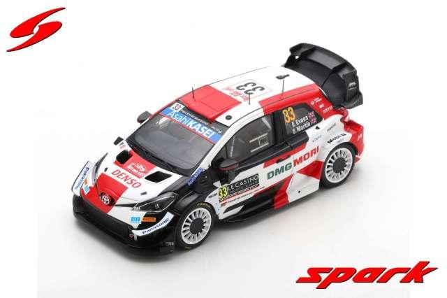 spark 1/43 TOYOTA Yaris WRC TOYOTA GAZOO Racing WRT No.33 2nd Rally Monte Carlo 2021 Elfyn Evans - Scott Martin