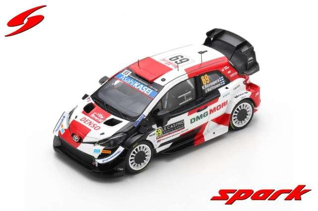 spark 1/43 TOYOTA Yaris WRC TOYOTA GAZOO Racing WRT No.69 Rally Monte Carlo 2021Kalle Rovanpera - Jonne Halttunen