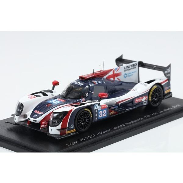 【スパーク】 1/43 Ligier JS P217 - Gibson No.32 United Autosports 7th 24H Le Mans 2018 H. De Sadeleer - W. Owen - J. P. Montoya