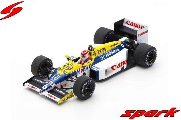 Spark 1/43 Williams FW11 No.6 Winner Brazilian GP 1986Nelson Piquet