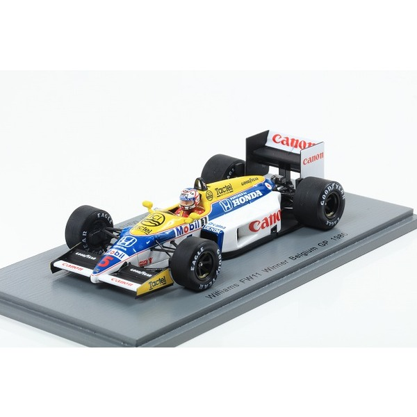 【Spark】1/43 Williams FW11 No.5 Winner Belgian GP 1986 Nigel Mansell