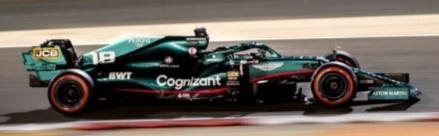 Spark 1/43 Aston Martin AMR21 No.18 Aston Martin Cognizant F1 Team Bahrain GP 2021 Lance Stroll