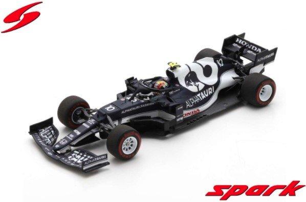<予約 2021/9月発売予定> Spark 1/43 AlphaTauri AT02 No.10 Scuderia AlphaTauri 6th Monaco GP 2021 Pierre Gasly