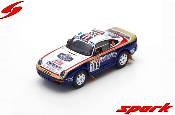 Spark 1/43 Porsche 959 No.185 Paris Dakar 1985 J. Ickx - C. Brasseur