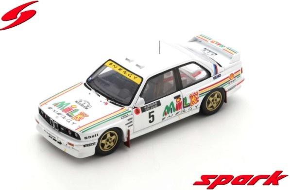 Spark 1/43 BMW M3 E30 No.5 Rally 1000 Lakes Finland 1988 Ari Vatanen - Bruno Berglund