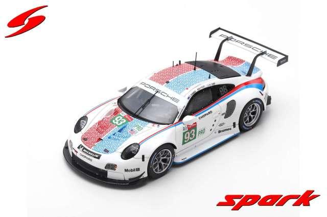 Spark 1/43 Porsche 911 RSR No.93 Porsche GT Team 3rd LMGTE Pro class 24H Le Mans 2019
