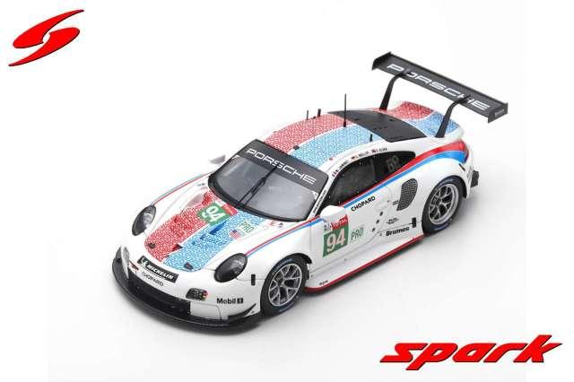 Spark 1/43 Porsche 911 RSR No.94 Porsche GT Team 24H Le Mans 2019