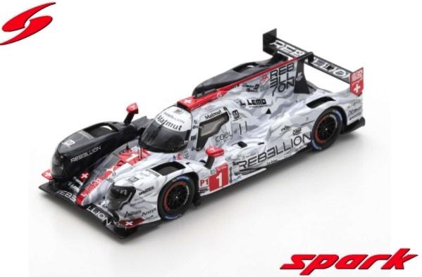 Spark 1/43 Rebellion R13 - Gibson No.1 Rebellion Racing 2nd 24H Le Mans 2020 G. Menezes - N. Nato - B. Senna