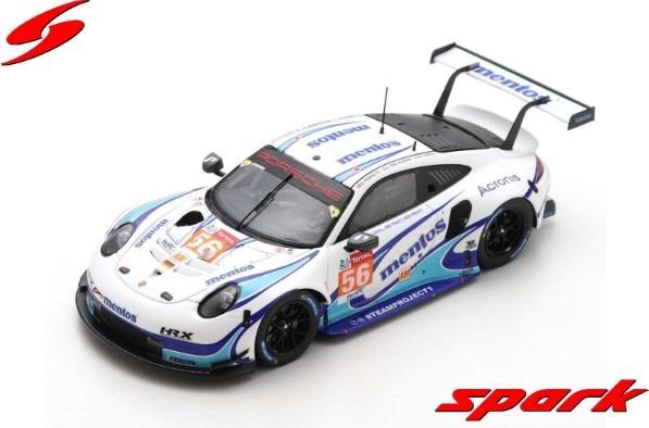 Spark 1/43 Porsche 911 RSR No.56 Team Project 1 24H Le Mans 2020 M. Cairoli - E. Perfetti - L. ten Voorde