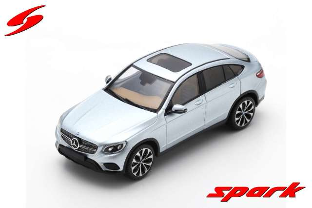 Spark 1/43 Mercedes-Benz GLC Coupe 2016 - Diamond Silver Metallic