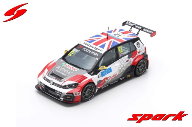【spark】 1/43 VW GOLF GTI TCR NO.12 S?BASTIEN LOEB RACING RACE 1 WTCR 2019 N?RBURGRING ROBERT HUFF