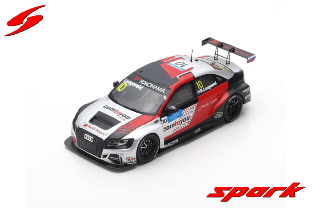 【spark】 1/43 AUDI RS3 LMS NO.10 COMTOYOU TEAM AUDI SPORT RACE 3 WTCR 2019 SLOVAKIA RING NIELS LANGEVELD
