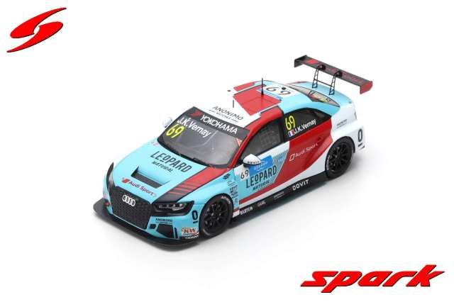 【spark】 1/43 AUDI RS3 LMS NO.69 LEOPARD RACING TEAM AUDI SPORT 2ND RACE 2 WTCR 2019 MARRAKESH JEAN-KARL VERNAY