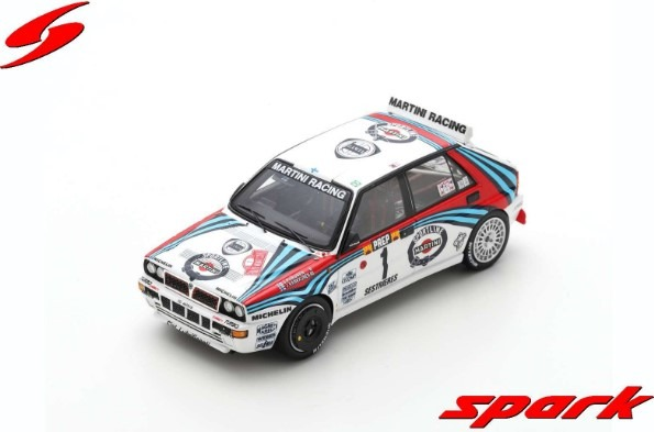 Spark 1/43 Lancia Delta HF Integrale No.1 3rd Monte Carlo Rally 1992 J.Kankkunen - J.Piironen