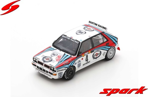 Spark 1/43 Lancia Delta HF Integrale No.4 Winner Monte Carlo Rally 1992 Didier Auriol - Bernard Occelli