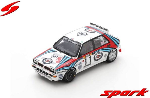 Spark 1/43 Lancia Delta HF Integrale No.11 5th Monte Carlo Rally 1992 Philippe Bugalski - Denis Giraudet