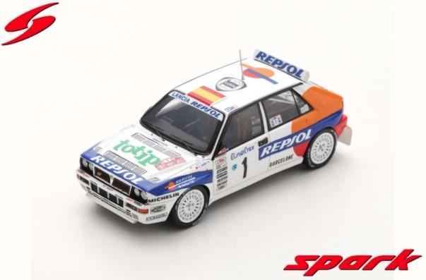 Spark 1/43 ランチア デルタ HF インテグラーレ EVO 1993 ラリー モンテカルロ #1 C.サインツ/L.モヤ